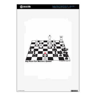 Any Pawn Can Become a Queen - Chess Board Set iPad 3 Decals