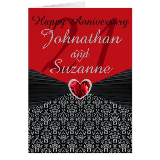 Any personalized happy anniversary greeting card zazzle