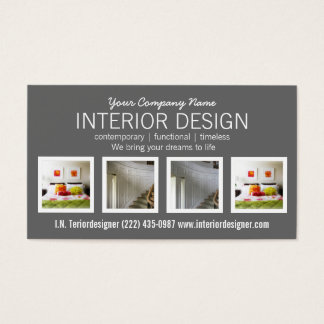 Any Profession Any Color Four Photo Business Card