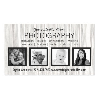 Any Profession Four Photos Business Card Templates