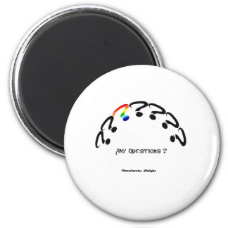 Any Questions 2 Inch Round Magnet