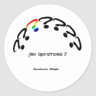Any Questions Classic Round Sticker