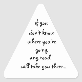 Any Road-triangle sticker