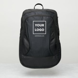 Any Shape Business Logo Custom Text Branded Port Authority® Backpack