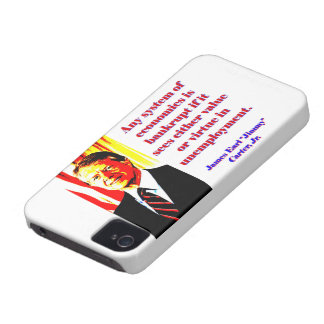 Any System Of Economics - Jimmy Carter iPhone 4 Cover