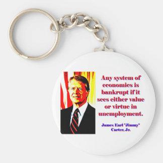 Any System Of Economics - Jimmy Carter Keychain