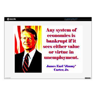 Any System Of Economics - Jimmy Carter Laptop Skin