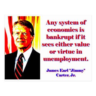 Any System Of Economics - Jimmy Carter Postcard