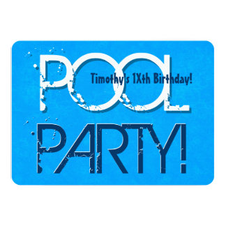 Any Teen Birthday Pool Party Save the Date P03Z Card