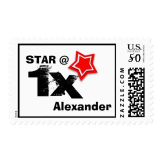 Any TEEN or TWEEN Birthday Layered RED Star T01Z Postage