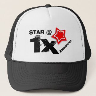 Any TEEN or TWEEN Birthday Layered RED Star T01Z Trucker Hat