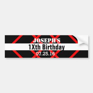 Any TEEN TWEEN Birthday Black Red Geometric Z50C Bumper Sticker