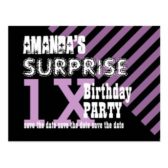 Any TEEN Year Surprise Birthday Save the Date T02Z Post Cards