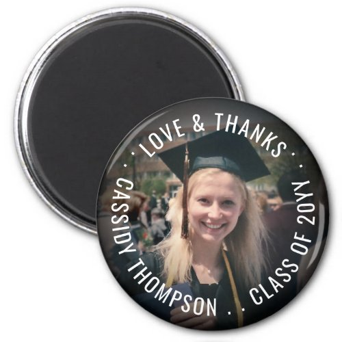 Any Text Graduation Thank You Photo Party Favor Magnet