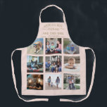 """Any Text Photo Collage Best Mom Blush Pink & Gold Apron<br><div class=""""desc"""">Celebrate the simple joys of family and grandkids with an elegant custom photo collage blush pink and gold apron. Pictures and all text are simple to customize. Quote that reads """"World's Best Mom and Chef Ever We Love You"""" can be personalized for Mama, Mommy, Grandma, Nana, Grammy, Granny, Gigi, Auntie,...</div>"""