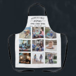 """Any Text Photo Collage Best Mom & Chef White Black Apron<br><div class=""""desc"""">Celebrate the simple joys of family and grandkids with an elegant custom photo collage black and white apron. Pictures and all text are simple to customize. Quote that reads """"World's Best Mom and Chef Ever We Love You"""" can be personalized for Mama, Mommy, Grandma, Nana, Grammy, Granny, Gigi, Auntie, etc....</div>"""