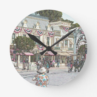 Any Town, USA Round Clocks