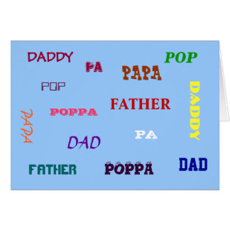 Any Way You Say It Father's Day Card