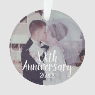 Any Wedding Anniversary - with Full Photo Ornament