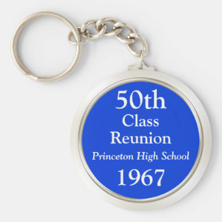 Any Year and Colors Cheap Class Reunion Gift Ideas Keychain