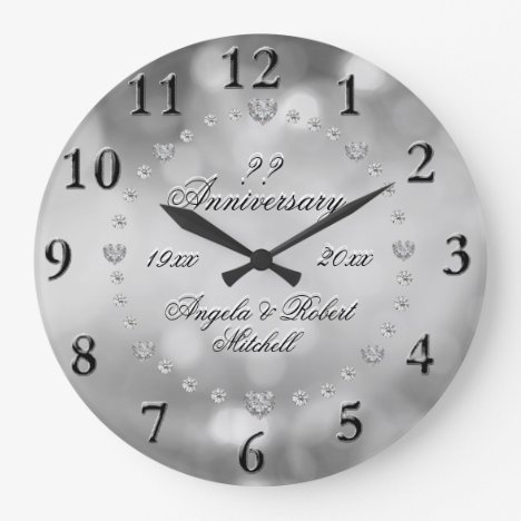 Any Year Anniversary Elegant Large Clock