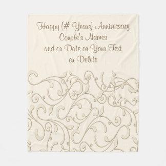 ANY YEAR Anniversary Gifts Anniversary Blanket Fleece Blanket