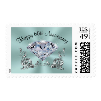 Any Year Anniversary Stamps, Your Colors and Text Postage