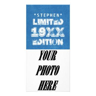 Any Year Birthday 19XX Limited Edition Custom B2 Photo Card