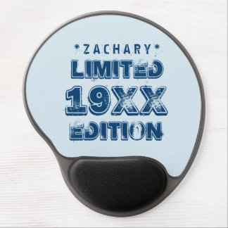 Any Year Birthday 19XX Limited Edition Custom E01W Gel Mouse Pad