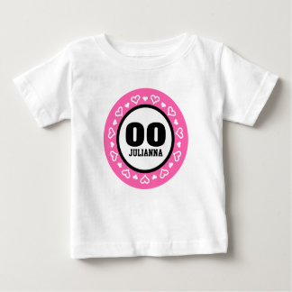 ANY YEAR Birthday for Her HEARTS Frame PINK A10 Baby T-Shirt