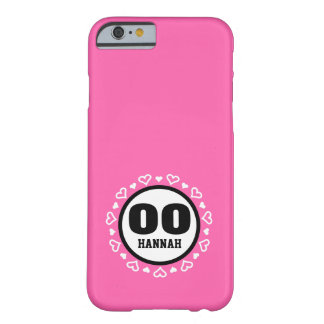 ANY YEAR Birthday for Her HEARTS Frame PINK A18 Barely There iPhone 6 Case