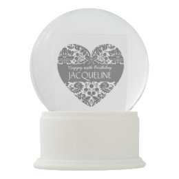 Any Year Birthday For Her Trendy Damask A08 Snow Globe