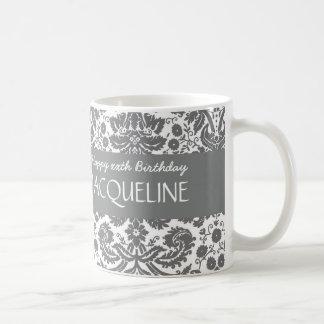 Any Year Birthday For Her Trendy Damask B05 Coffee Mug