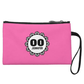 ANY YEAR Birthday for Her with Lace PINK B01. Wristlet