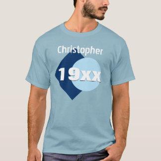 Any Year Birthday Gift Geometric Custom Name W57 T-Shirt
