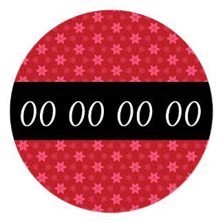 Any Year Birthday Party Modern RED STARS V11A Invitation