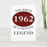 "Any Year Born In Monogram Add Your Name Birthday Card<br><div class=""desc"">Fun any year ""Birth Of A Legend"" birthday card. Add the year,  initial ,  name unique message,  plus other details as desired in the template fields creating a unique 40th,  50th,  60th or any birthday celebration card. Suitable for men or women,  friends,  family,  co-workers,  boss etc.</div>"