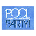 Any Year Class of Graduation Pool Party 5x7 Paper Invitation Card