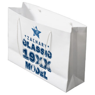 Any Year CLASSIC MODEL Grunge Text A05 Large Gift Bag