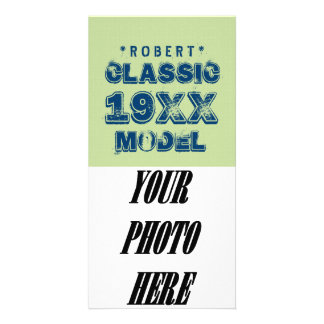 Any Year CLASSIC MODEL Grunge Text Green G10Z Photo Card