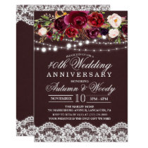 ANY YEAR - Floral Wedding Anniversary Invitation