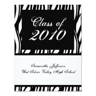 ANY YEAR Funky Black & White Graduation Invitation