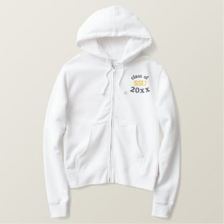 Any Year Graduate Embroidered Zip Hoodie