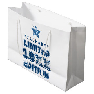 Any Year Limited Edition Grunge Text A01 Large Gift Bag