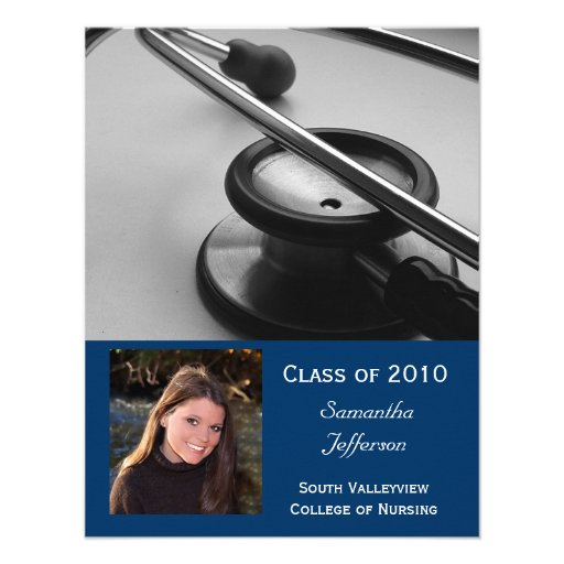 Any Year- Medical School, Nursing Photo Graduation Personalized Announcements