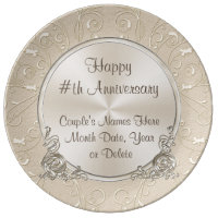 Any Year Personalized Anniversary Plate