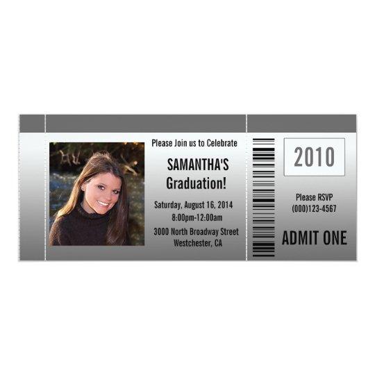 Any Year~ Photo Graduation/Party Ticket Invitation