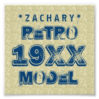 Any Year RETRO MODEL Grunge Text A03 Photo Print
