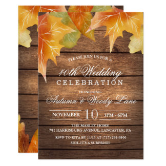 ANY YEAR - Rustic Wedding Anniversary Invitation