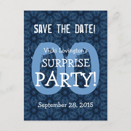 any year save the date surprise birthday s06 announcement postcard